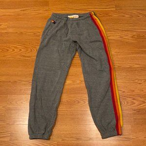 WOMEN'S SWEATPANTS - HEATHER GREY // RAINBOW